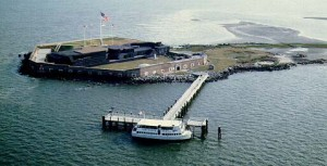 Aerial view of Fort Sumter