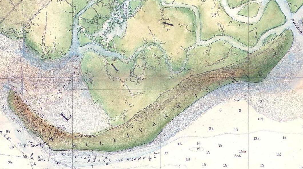 1866 map sullivans island light location